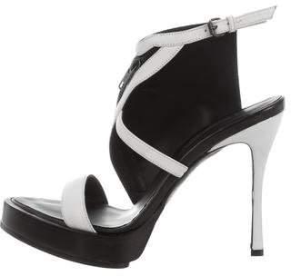 Ann Demeulemeester Leather Platform Sandals