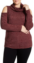 Socialite Cold Shoulder Cowl Neck Sweater (Plus Size)