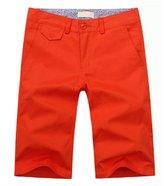 RUAYE Men's Slim Classic Fit Flat Front Shorts Lable