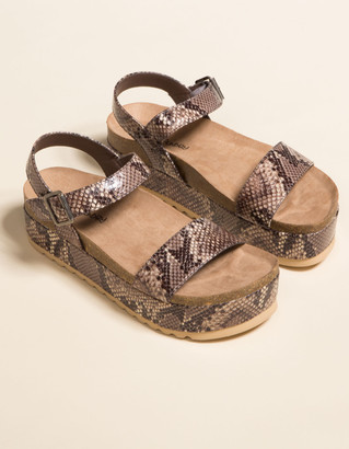 Chinese Laundry Palms Snake Womens Flatform Sandals