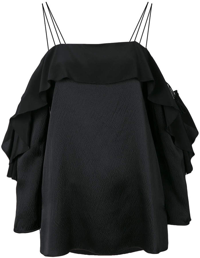 Schumacher Dorothee ruffled off shoulder dress