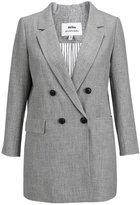 MSSHE Women's Double Breasted Blazer Jacket Long Sleeve Pockets Blazer Plus