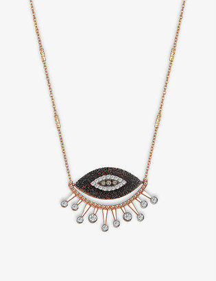 THE ALKEMISTRY 10th Eye Eternal Vision 14ct rose-gold and diamond necklace