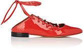 Givenchy Women's Show Line Patent Leather Lace-Up Flats