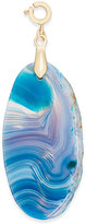 INC International Concepts Gold-Tone Blue Agate Stone Charm, Only at Macy's