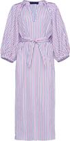 Martin Grant Striped Balloon Sleeve Shirt Dress