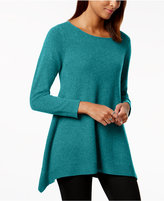 Charter Club Cashmere Handkerchief-Hem Sweater, Created for Macy's