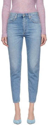 Citizens of Humanity Blue Liya High Rise Classic Fit Jeans