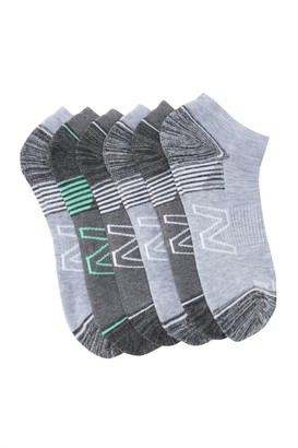 New Balance Active Cushion Low Cut Performance Socks - Pack of 6
