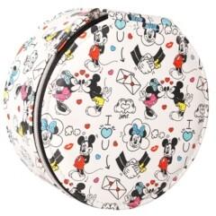 Disney Mickey & Minnie White Round Jewelry Case