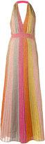 M Missoni metallic stripes dress - women - Cotton/Polyamide/Polyester - 38