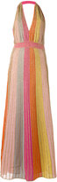 M Missoni - robe longue métallisée -