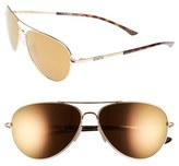 Smith Optics Women's 'Audible - Chromapop' 60Mm Polarized Aviator Sunglasses - Gold/ Polar Bronze Mirror