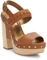 Cynthia Vincent Potent Studded Leather Platform Sandals