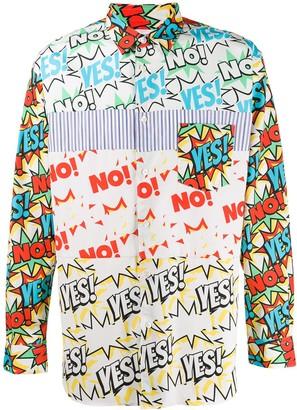 Comme des Garcons comic book print shirt