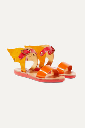Ancient Greek Sandals Kids - Size 23 - 34 Little Ikaria Color-block Patent-leather Sandals