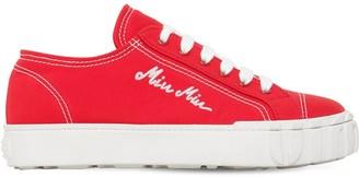 Miu Miu 20mm Cotton Canvas Sneakers
