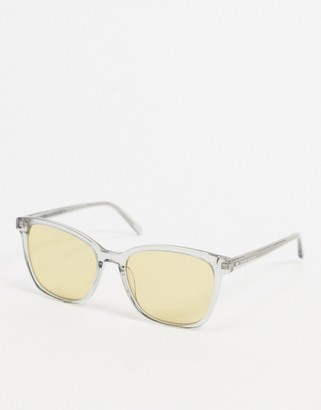 Tommy Hilfiger clear sunglasses with yellow frames