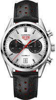 Tag Heuer CV211EFC6310 Carrera calibre 17 silver leather strap watch