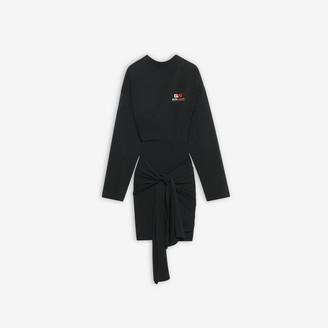 Balenciaga Gym Wear Short Wrap Dress