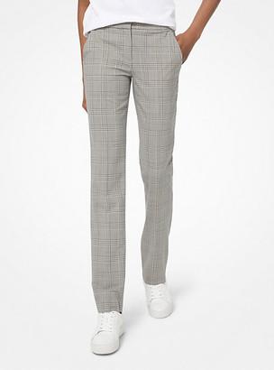 Michael Kors Glen Plaid Stretch-Wool Trousers
