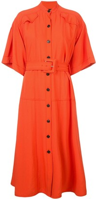 Proenza Schouler Crepe Crossover Dress