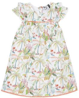 3 Pommes SANDRINE girls's dress in White