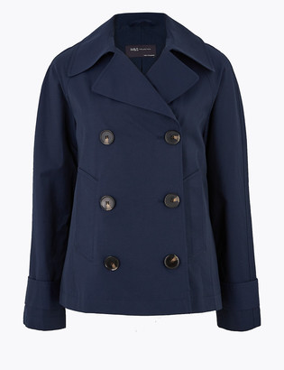 Marks and Spencer Cotton Double Breasted Pea Coat