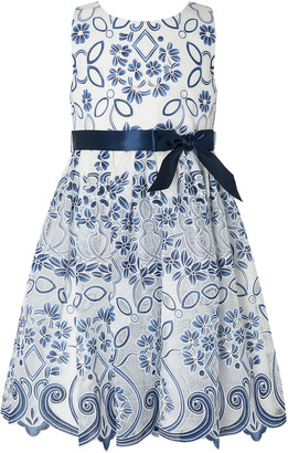 Monsoon Maggie Lace Occasion Dress Blue