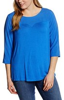 Zizzi Women's Regular fit 3/4 sleeve Blouse - Blue -