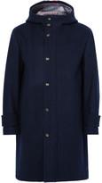 Thom Browne Striped Wool Hooded Coat