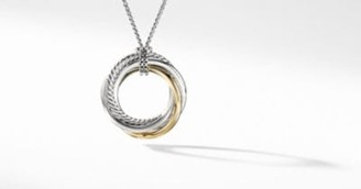 David Yurman The Crossover Collection Pendant Necklace With 14K