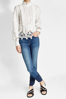 Anna Sui Embroidered Blouse with Silk