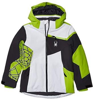 Spyder Challenger Jacket (Big Kids) (White) Boy's Clothing