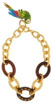 Dolce & Gabbana Parrot-charm Chain Necklace - Womens - Gold