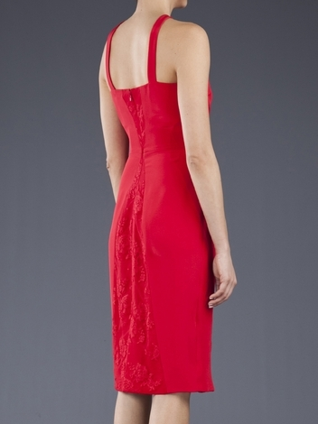 Cushnie et Ochs Silk Crepe W Lace Dress