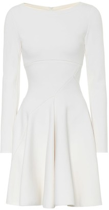 Alaia Stretch-wool fit-and-flare minidress