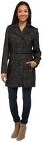 Calvin Klein Wool Belted Coat w/ Asymmetrical Zipper