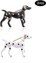 "TAGOO Cute Dog Brooches Pins Scarf Clips Unisex for Women&Men Wedding/Dailywear/Banquet (Dog White 0.98""1.33"")"