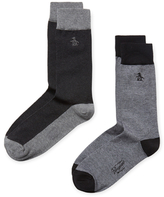 Original Penguin Intarsia Mid-Calf Socks (2 PK)