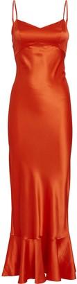 Saloni Mimi Silk Charmeuse Dress