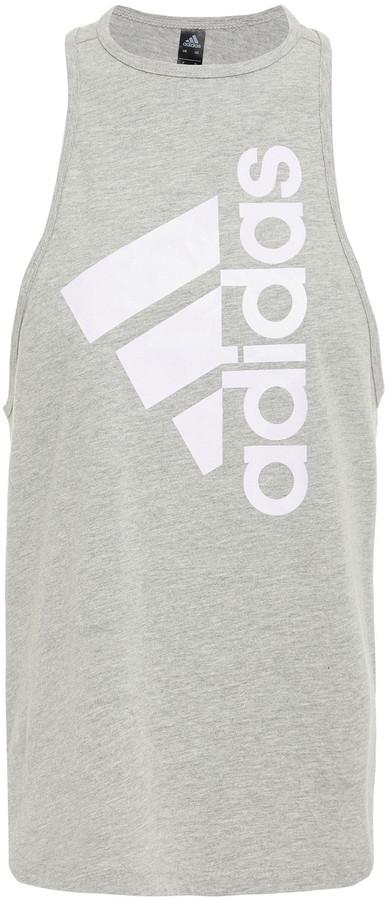 adidas Printed Cotton-blend Jersey Tank