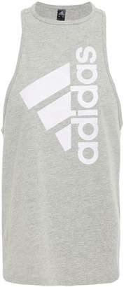 adidas Printed Cotton-blend Jersey Tank