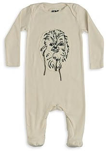 Nununu Unisex Star Wars Chewbacca Embroidered Footie - Baby