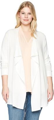 Calvin Klein Women's Plus Size DRPE FRNT MESH Cardi