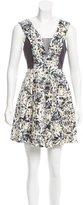 Rebecca Taylor Silk Abstract Print Dress