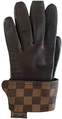 Louis Vuitton Brown Leather Gloves