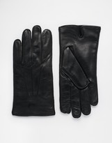 Dents Hastings Leather Gloves - Black
