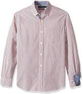 Nautica Men's Long Sleeve Classic Fit Plaid Button Down Shirt