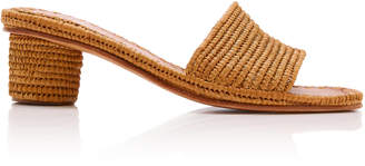 Carrie Forbes Bou Raffia Heeled Mule Size: 37
